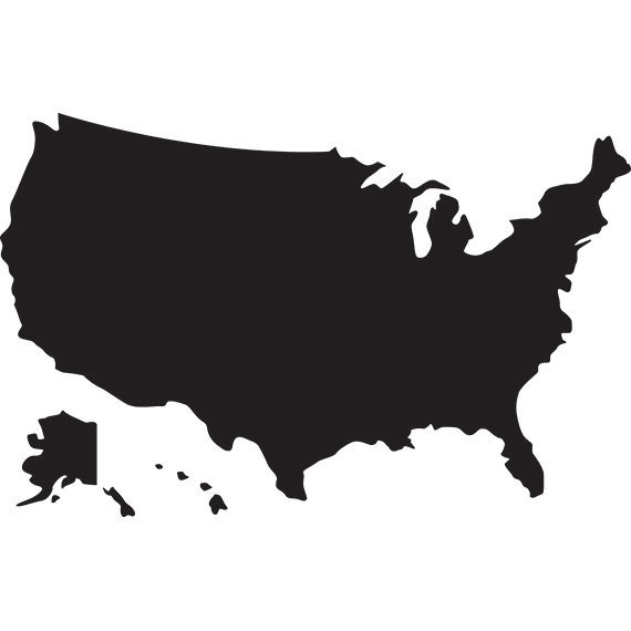570x570 Usa Map Svg Silhouette Clipart Usa Map Without States