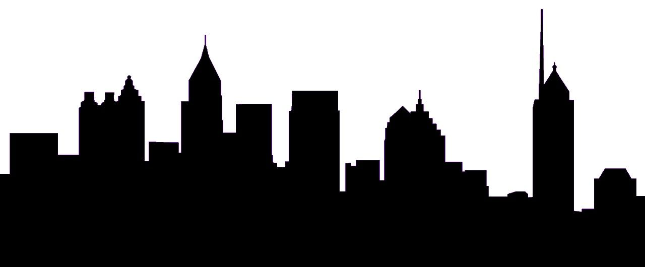 1280x530 Atlanta Skyline Silhouette Clip Art Home Projects
