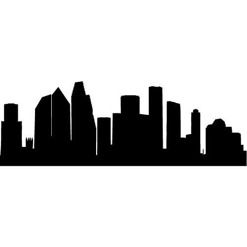 501x501 Houston Skyline Outline Free Download Clip Art Free Clip Art