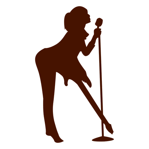 512x512 Music Singer Musician Silhouette