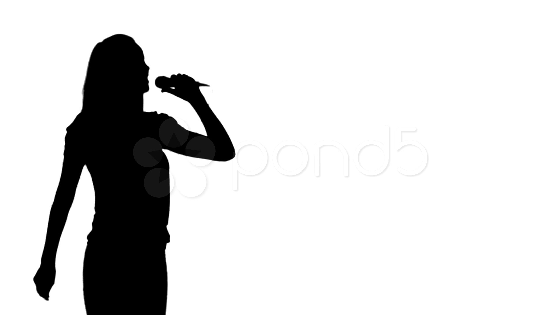 1920x1080 Video Animation Of A Woman Silhouette Singing ~