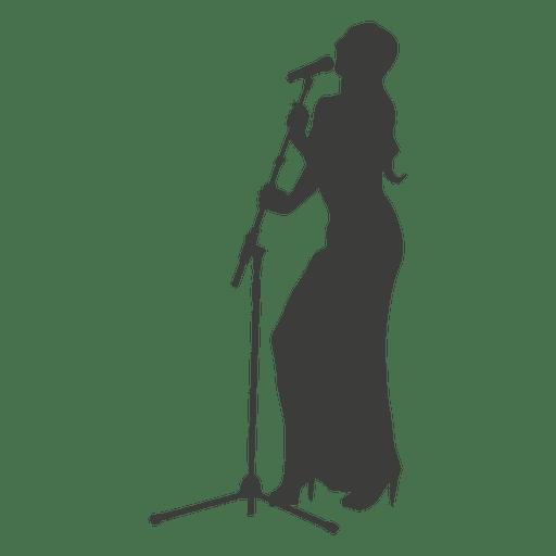 512x512 Female Singer Silhouette