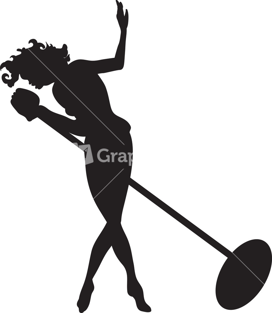 870x1000 Free Singing Silhouette Clipart