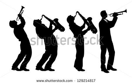 450x285 Musician Silhouette Clipart