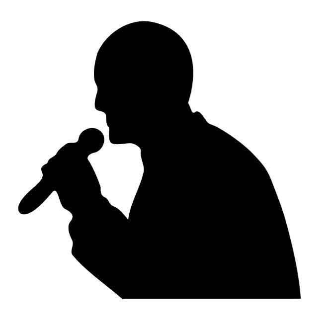 660x660 Silhouette Of A Singer Free Vectors Ui Download