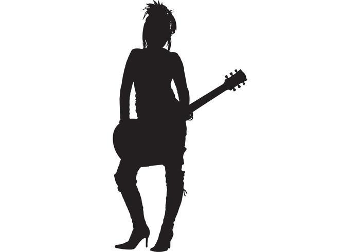 700x490 Girl Rocker Silhouette
