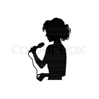 320x320 Half Length Portrait, Figure Of Handsome Man Singing