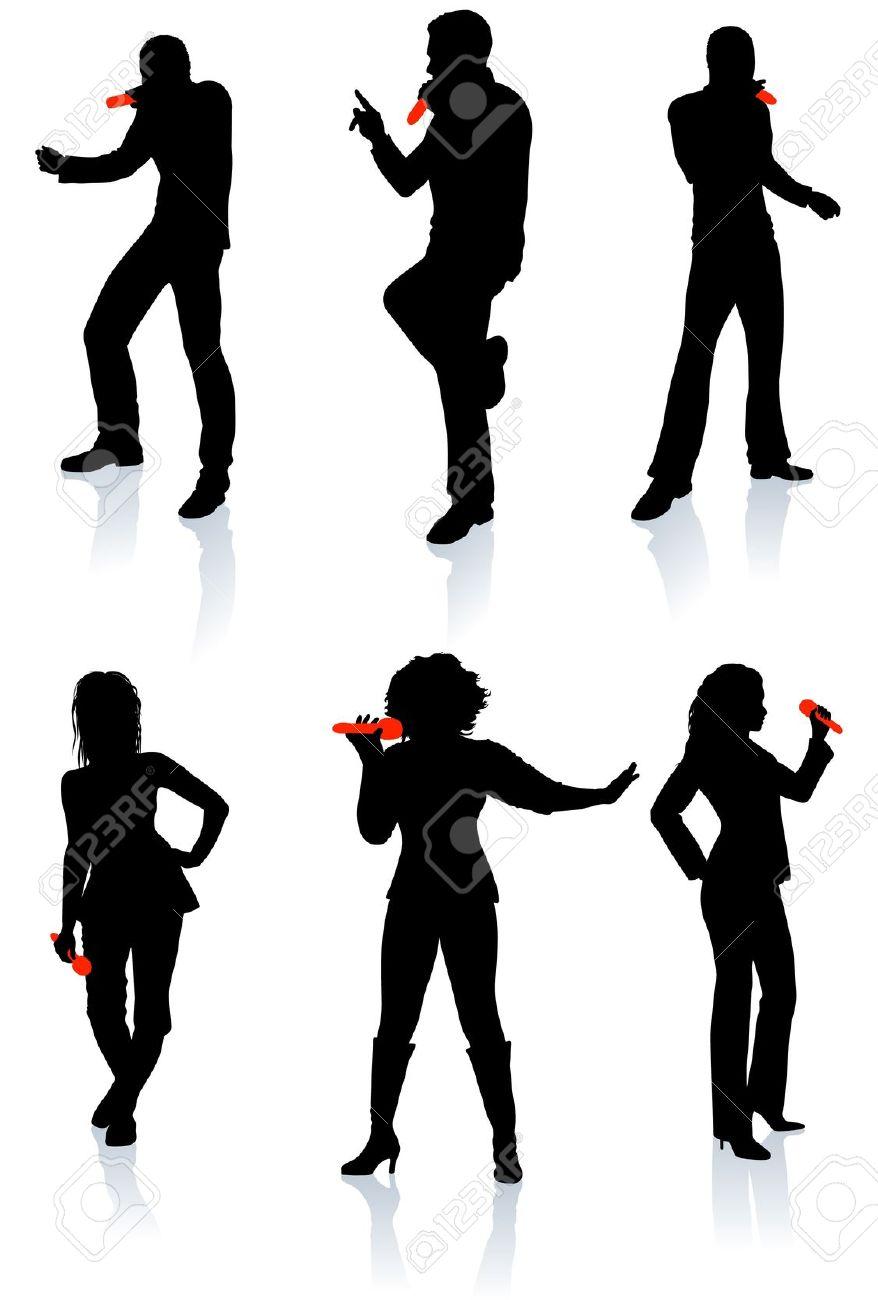 878x1300 Jazz Singer Silhouette Clip Art