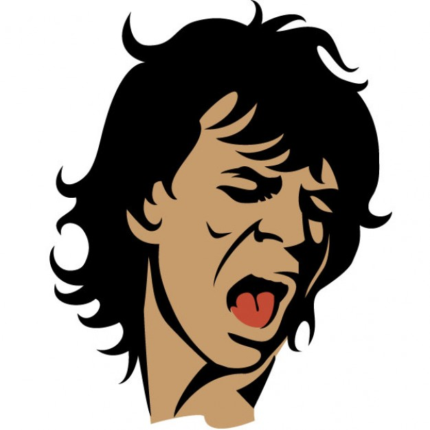 626x626 Rolling Stones Singer Mick Jagger Portrait Vector Free Download