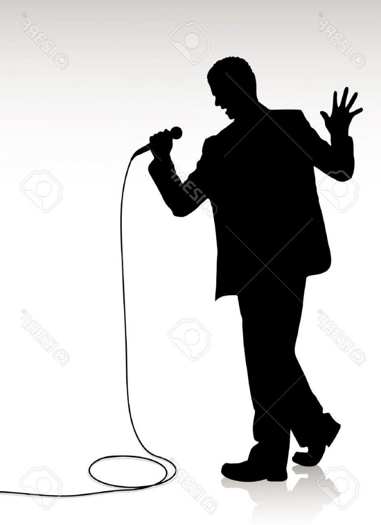 775x1067 Best Hd Man Singing Silhouette Photos Vector Images Stocks