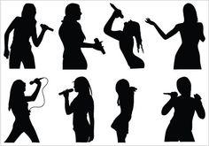 236x165 Jazz Singer Silhouette Clip Art