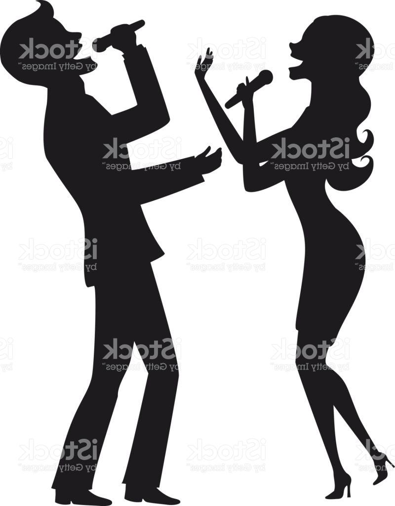 800x1024 Top 10 Elegant Couple Singing Karaoke On Stage Silhouette Vector