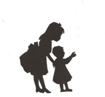 364x336 Sisters Silhouette Walking With Sister Silhouette Branding