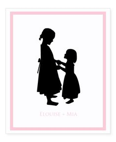 236x290 Charming Silhouette Of Two Sisters