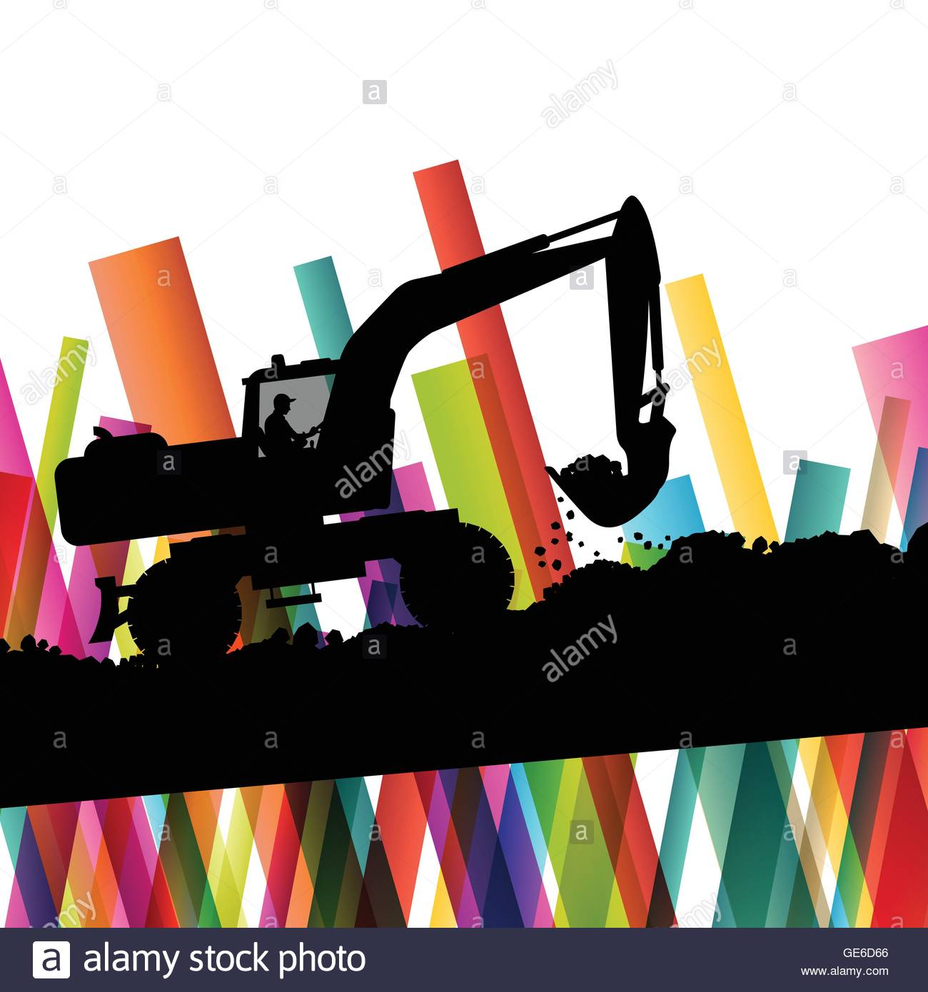1300x1390 Excavator Bulldozer Industrial Land Digging Machinery Silhouette