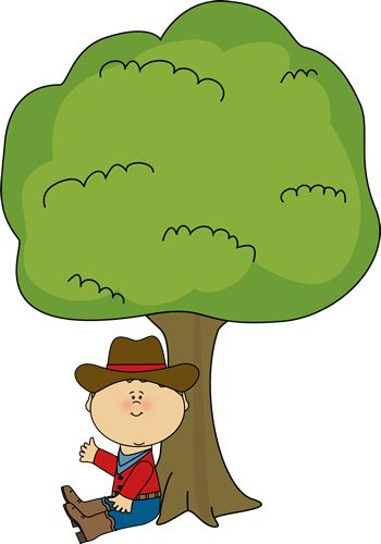 350x500 Boy Sitting Under Tree Clip Art