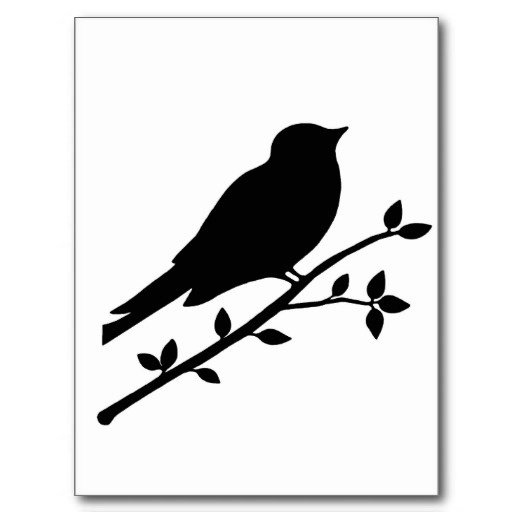 Sitting Bird Silhouette