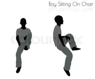 320x267 Eps 10 Vector Illustration Of Man In Sitting Pose Chair Pose