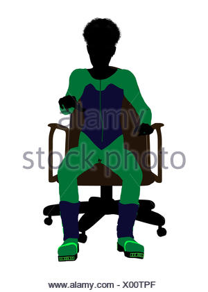 300x420 African American Male Teen Skier Sitting On A Chair Silhouette