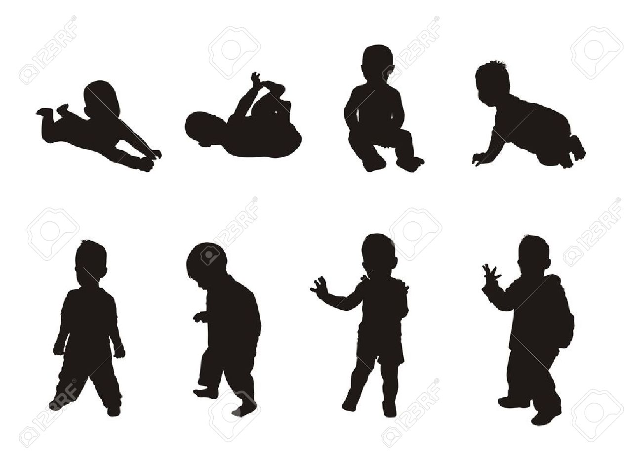 1300x931 Baby Silhouette Clip Art Free Clip Art Silhouette Of A Cartoon