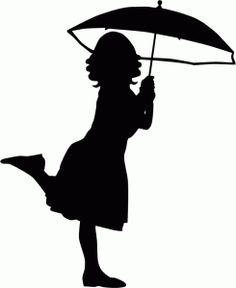 236x288 Clipart Little Girl Sitting With Umbrella Silhouette