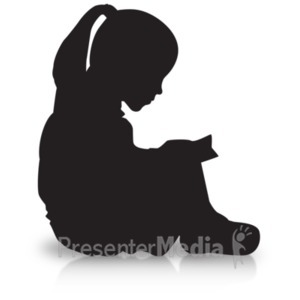 300x300 Boy Reading Silhouette