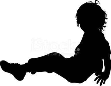 386x300 Boy Sitting In Silhouette Stock Vectors