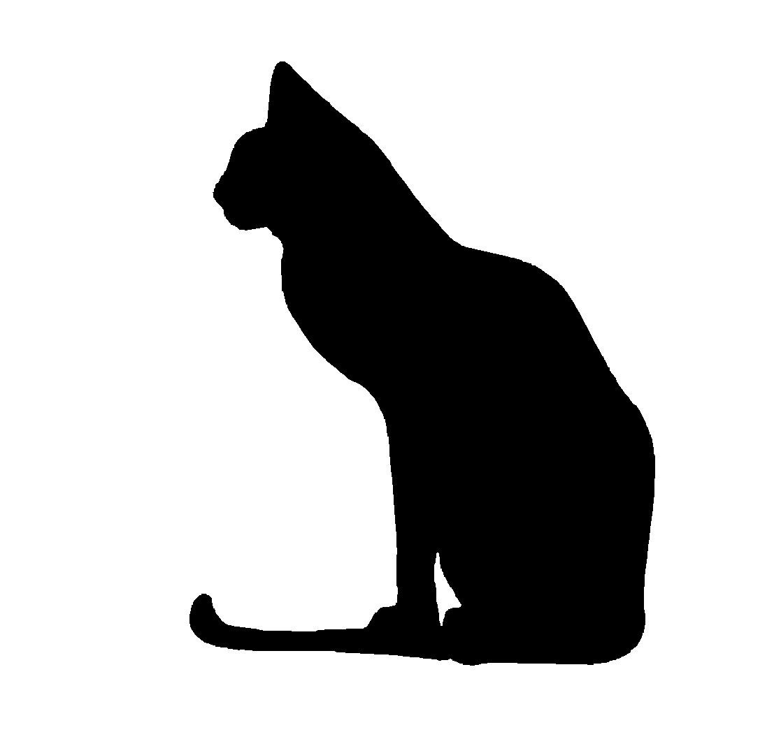 sitting cat silhouette at getdrawings com free for personal use rh getdrawings com cat head silhouette vector dog cat silhouette vector free