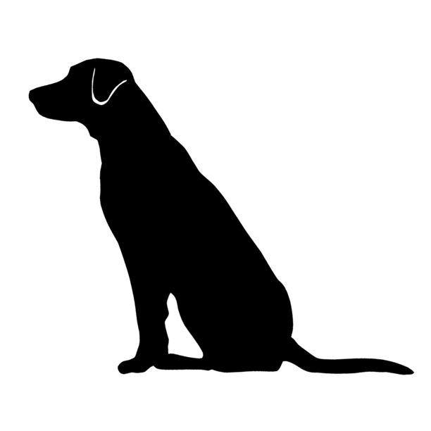 Dog Breed Silhouette Car Magnets