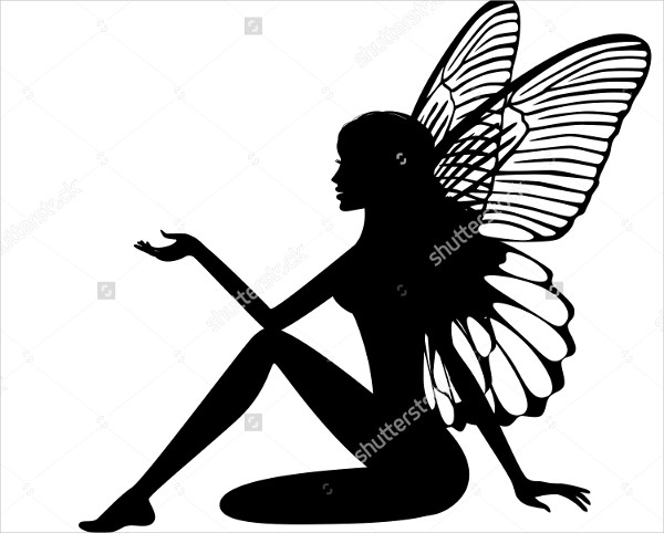 Sitting Fairy Silhouette