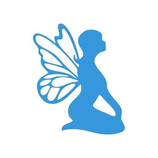600x600 Fairy Girl Silhouette Cuttable Design