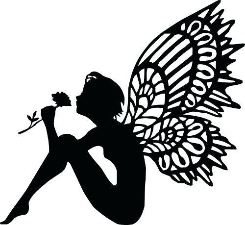 500x459 Fairy Silhouette Garden Fairy Cutouts Garden Of Life Prenatal