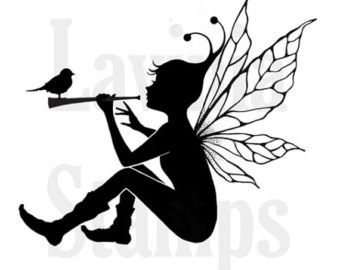 340x270 Sitting Fairy Svg, Dxf Amp Png Digital Download Files For Silhouette