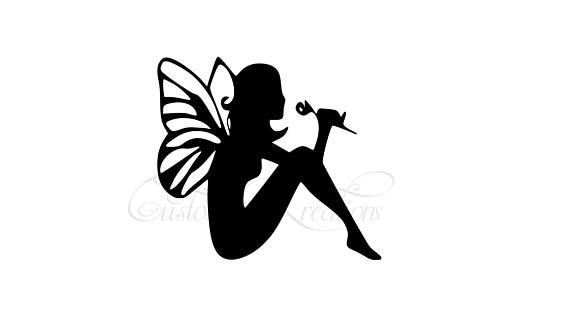570x320 Sitting Flower Fairy Svg File