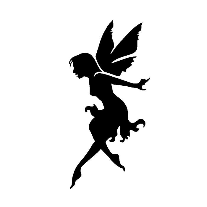 700x700 Tag Sitting Fairy Stencil