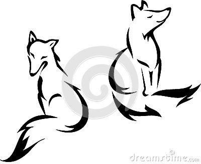 400x328 Sitting Fox By Ingaclemens, Via Dreamstime All Shadow Wall Deco