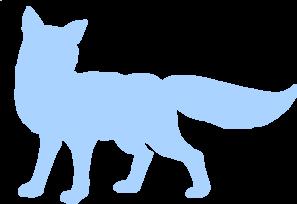 297x204 Blue Shy Fox Silhouette Clip Art