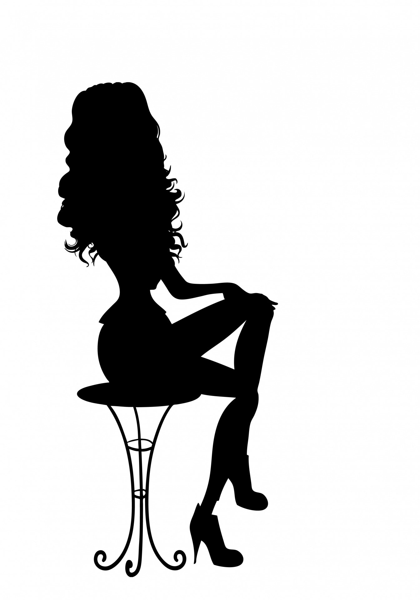 1344x1920 Pin Up Girl Silhouette Free Stock Photo