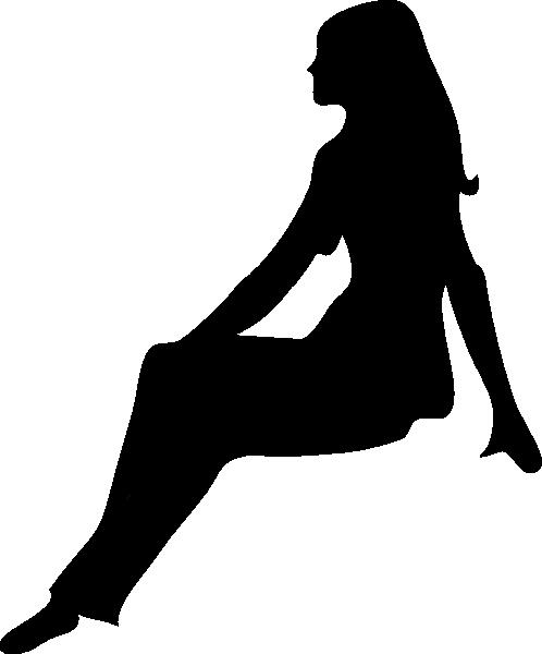 498x600 Sitting Woman Silhouette Clip Art