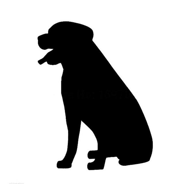 640x640 812cm Rottweiler Dog Car Sticker Decals Dog Sitting Graphics
