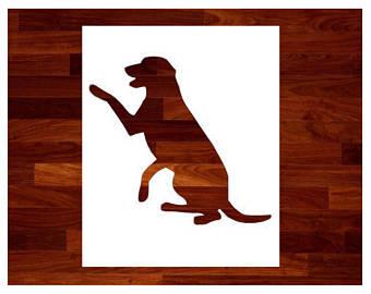 340x270 Labrador Stencil Etsy