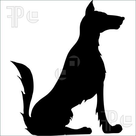449x449 Sitting Dog Silhouette Clip Art