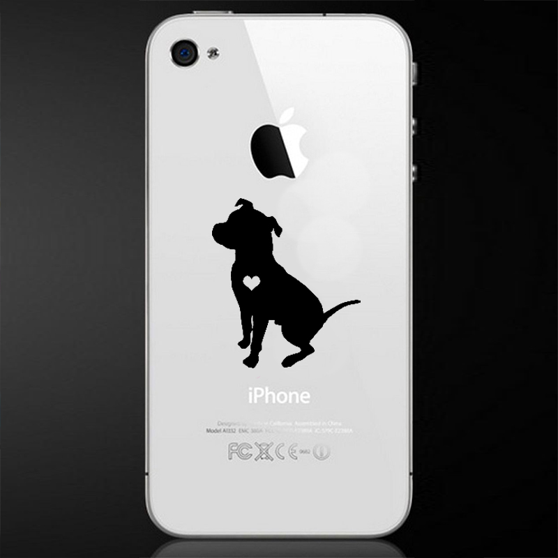 800x800 Sitting Floppy Ear Pit Bull Phone Decal Larry The Dog
