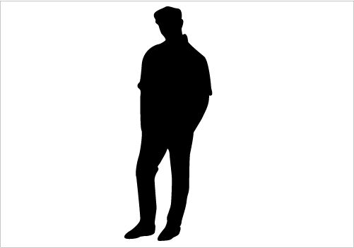 501x352 Young Man Silhoette Man Sitting On A Chair Silhouette Graphics