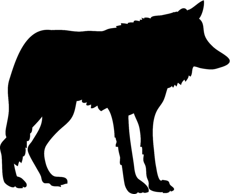 Sitting Wolf Silhouette