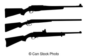 300x193 Crossed Rifles Silhouette Clipart