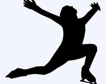 340x270 Figure Skate Silhouette Clipart