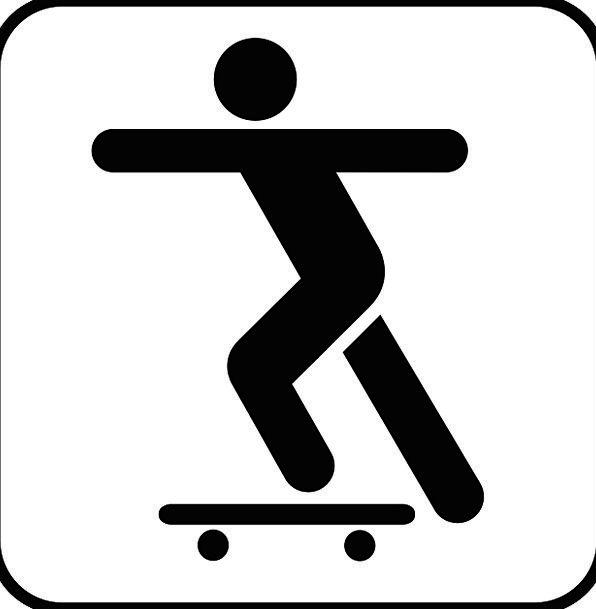596x609 Skateboard, Skateboarder, Skateboarding, Sign, Activity, Symbol