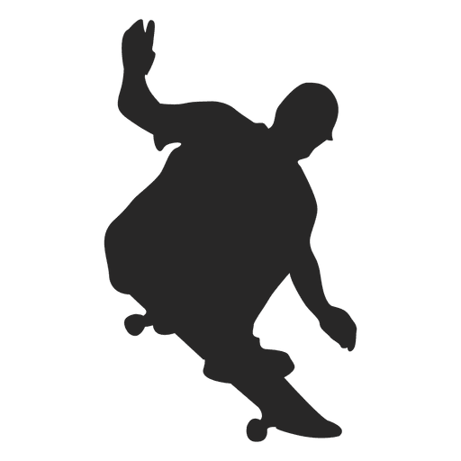 512x512 Skateboard Jumping Silhouette 2