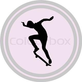 320x320 Skateboarder Silhouette Stock Vector Colourbox